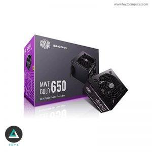 منبع تغذیه کولرمستر MWE Gold 650W غیر ماژولار