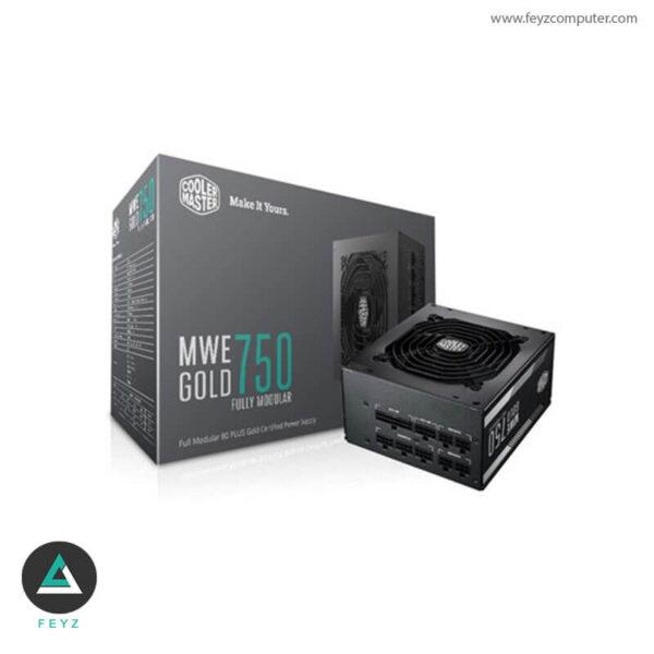 منبع تغذیه کامپیوتر کولرمستر MWE Gold 750W فول