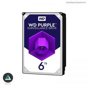 هارددیسک اینترنال وسترن دیجیتال Purple ظرفیت ۶ ترابایت