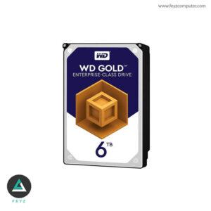 هارددیسک اینترنال وسترن دیجیتال مدل Gold WD6002FRYZ ظرفیت 6 ترابایت