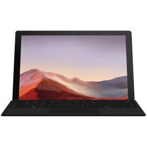 تبلت مایکروسافت مدل Surface Pro 7 - A به همراه کیبورد Black Type Cover